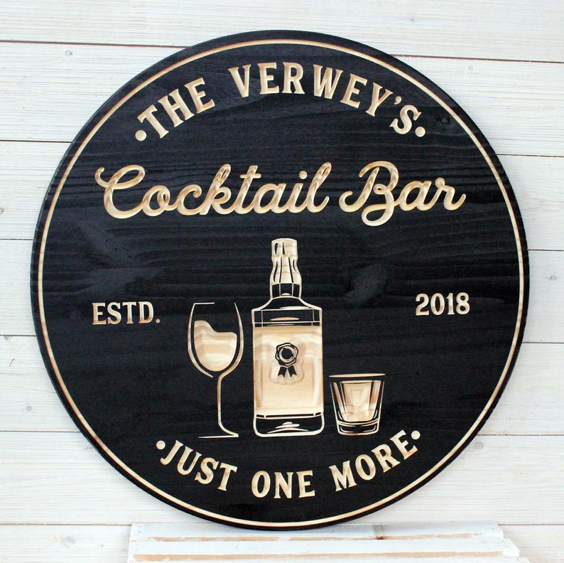 Personalized Signs Wedding Gift Personalized Bar Sign Bar Decor American Flag Sign Flag Bar Sign Man Cave Groomsmen Gift Bar Signs