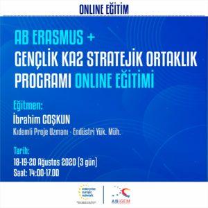 AB Erasmus+ Gençlik KA2 Stratejik Ortaklık Programı Online Eğitimi