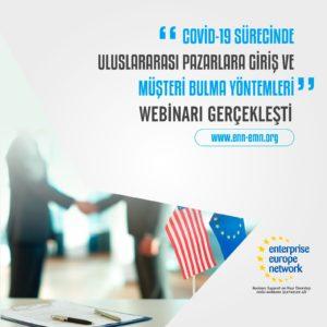 Covid-19 Sürecinde Uluslararası Pazarlara Giriş ve Müşteri Bulma konulu webinar 10 Eylül tarihinde gerçekleşti.