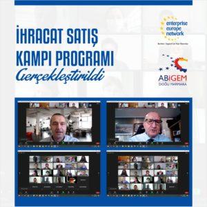 Kocaeli Sanayi Odası ve Doğu Marmara ABİGEM organizasyonunda İhracat Satış Kampı Programı gerçekleştirildi