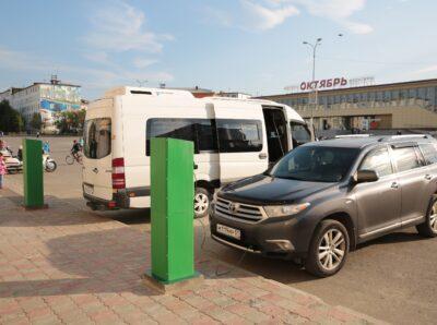В Заполярном начала работу «заправка» для электромобилей