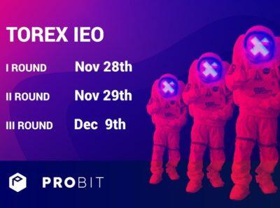 О проведении IEO на бирже ProBit 28 ноября 2019 года сообщила платформа Torex