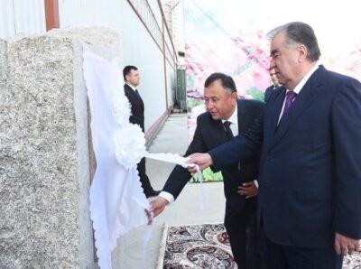 Хризотил в Таджикистане: новый завод по производству шифера открыл президент Рахмон