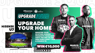 Hisense запускает рекламную кампанию в честь ЕВРО-2020 с участием Дуэйна Уэйда и легенд футбола