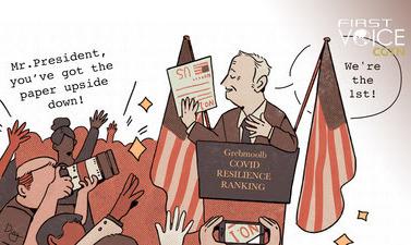 CGTN: Согласно рейтингу Bloomberg по COVID-19: на первом месте бизнес, на последнем — люди