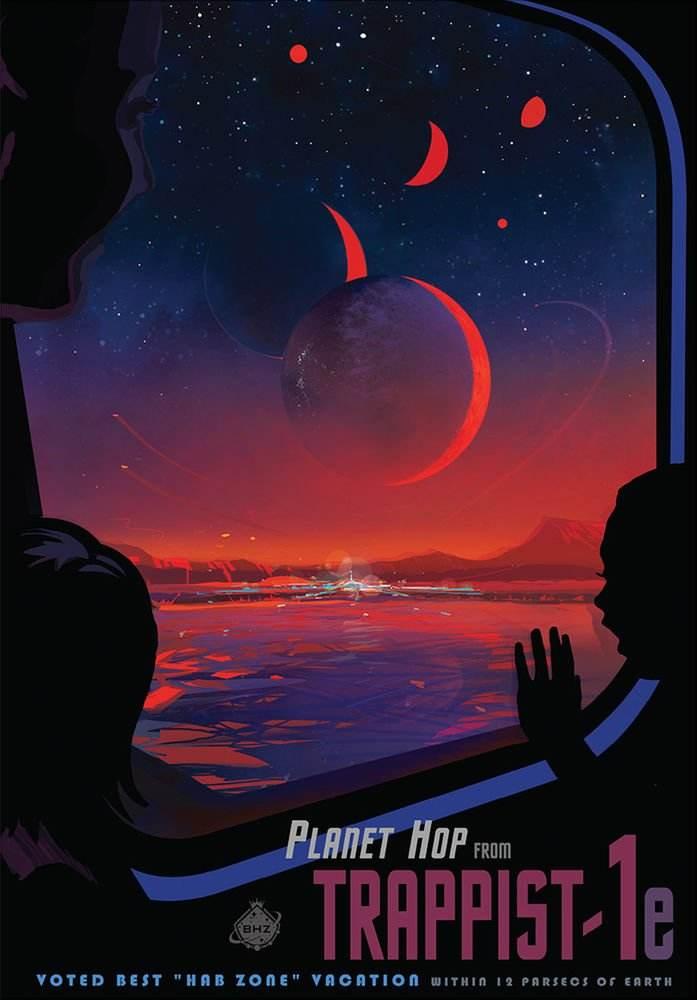Sept exoplanètes autour de Trappist 1, dont trois potentiellement viables