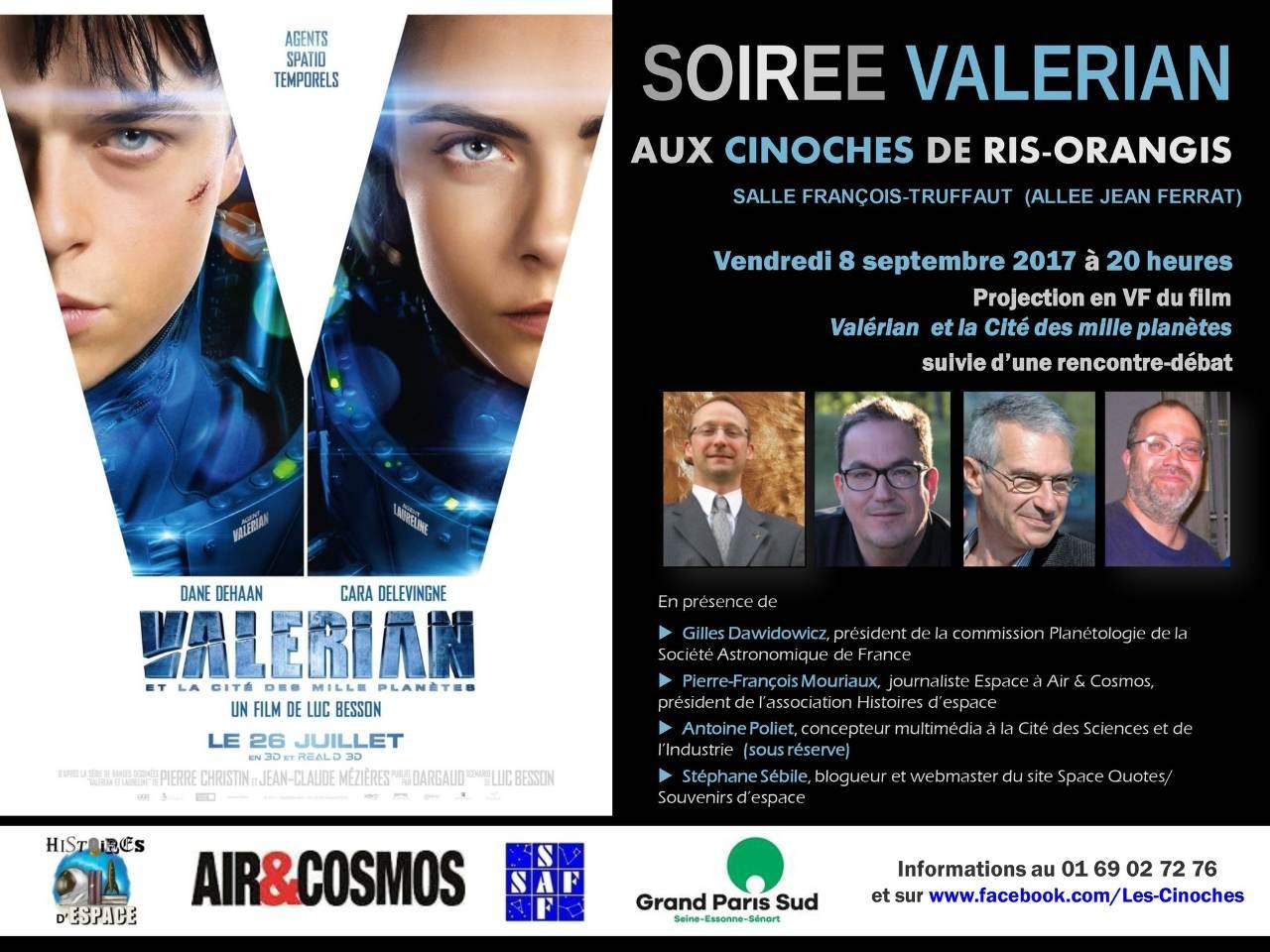 Ciné-débat autour de Valérian le 8 septembre à Ris Orangis