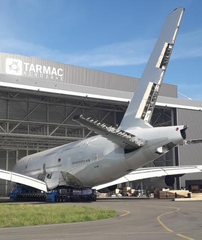 Tarmac Aerosave a déconstruit son premier Airbus A380
