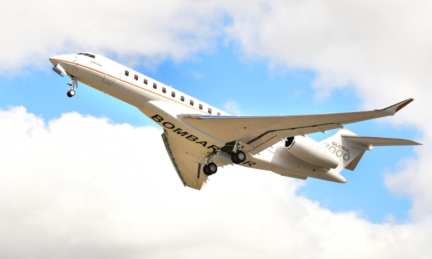 Le quatrième Global 7000 a décollé