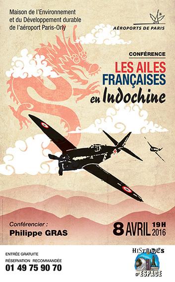 """Conférence """"Les ailes françaises en Indochine"""" le 8 avril à Orly"""