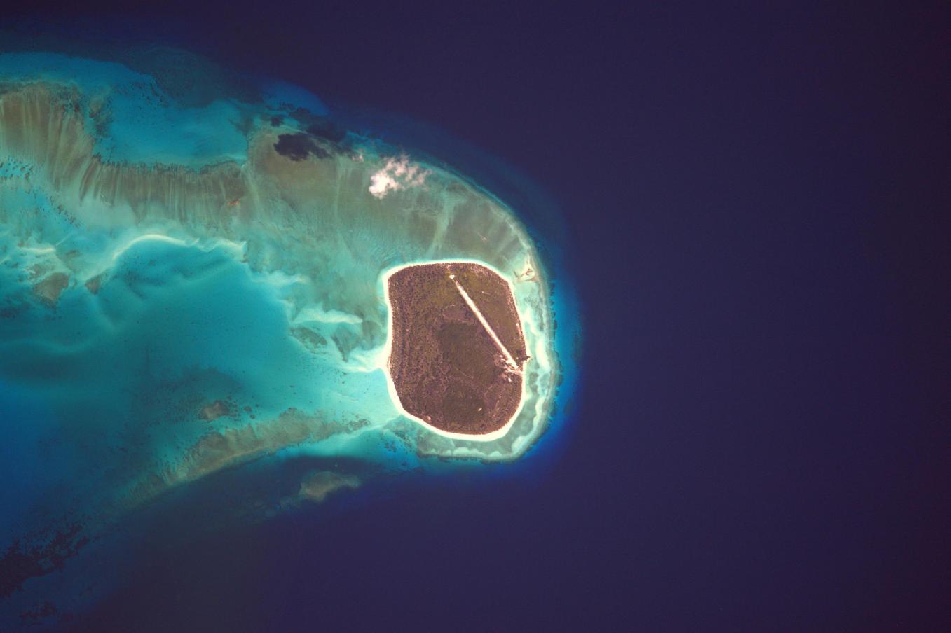 La Terre dans l'oeil de Thomas Pesquet #57 : l'île Grande Glorieuse