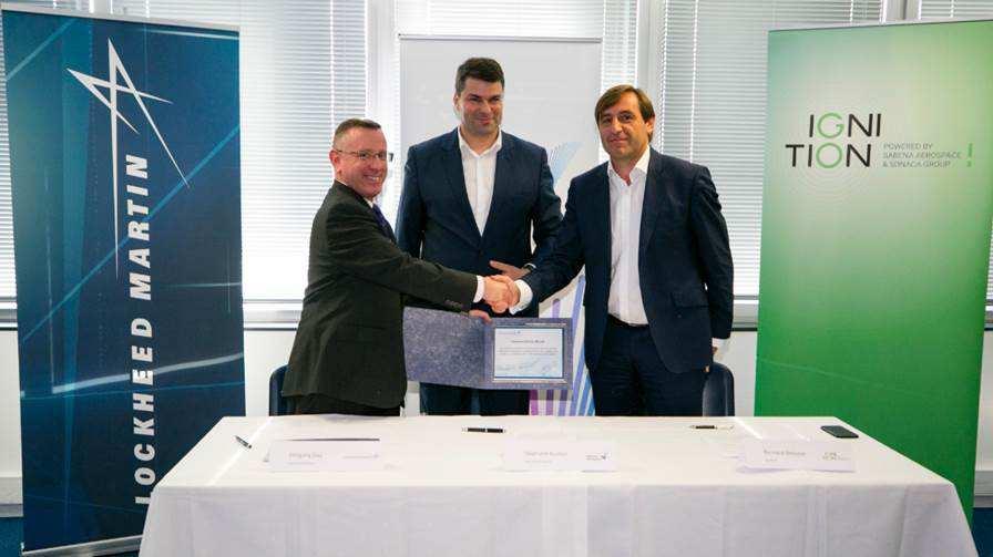 Lockheed Martin signe deux accords avec l'industrie belge