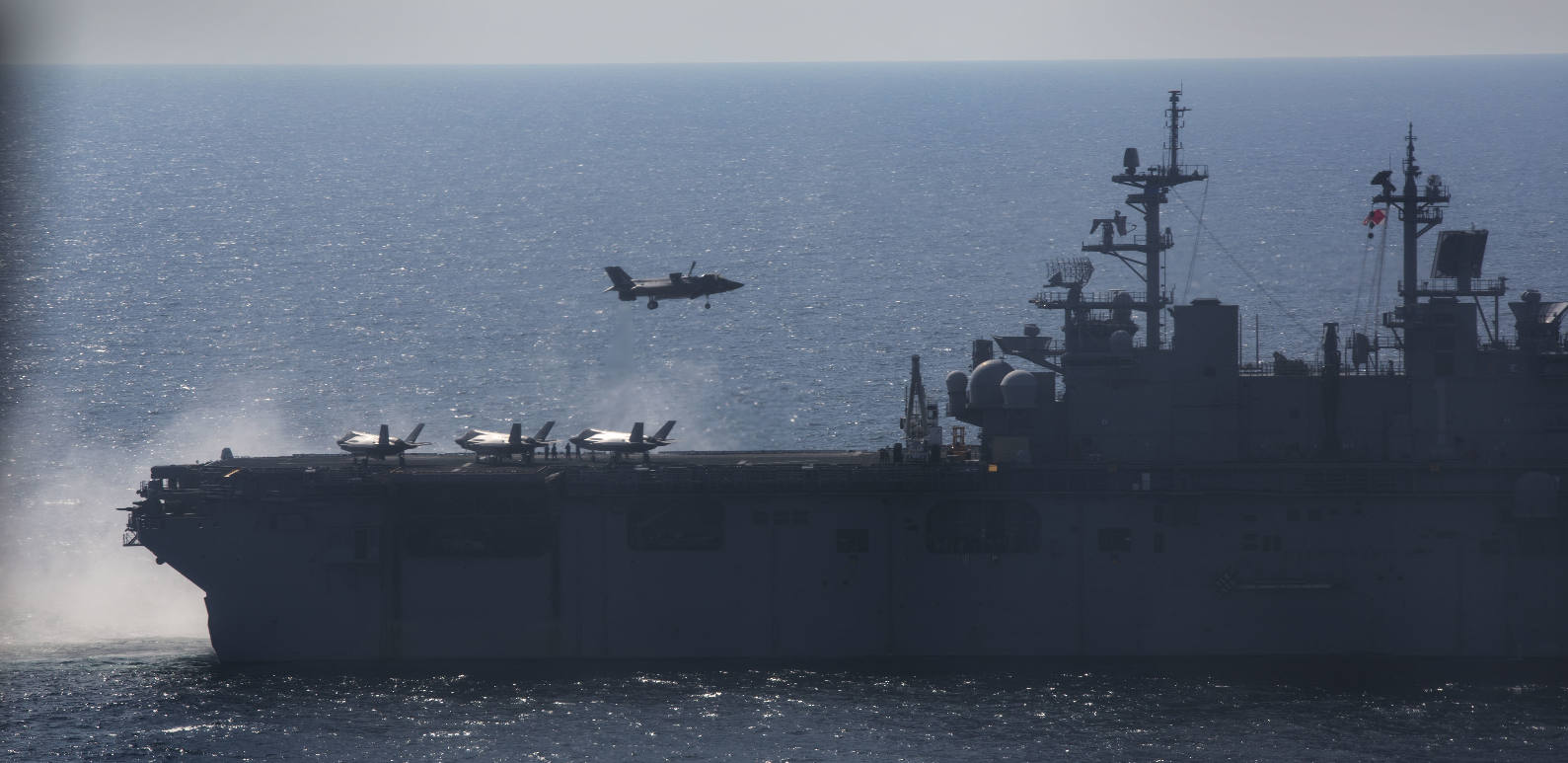 F-35B-capable USS Wasp departs for Japan