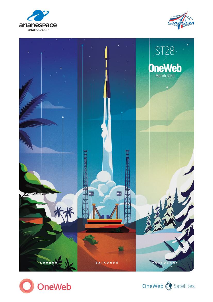 Troisième lot de satellites OneWeb mis à poste