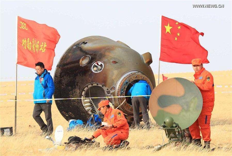 Retour sur Terre de Shenzhou 11, après 33 jours de vol