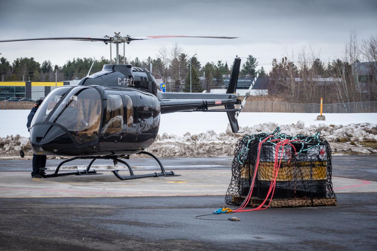 Le crochet de charge du Bell 505 a été certifié par l'AESA