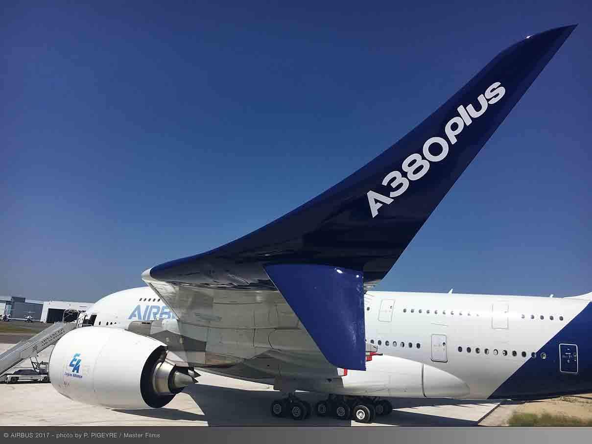 Bourget 2017 : Airbus présente son A380plus