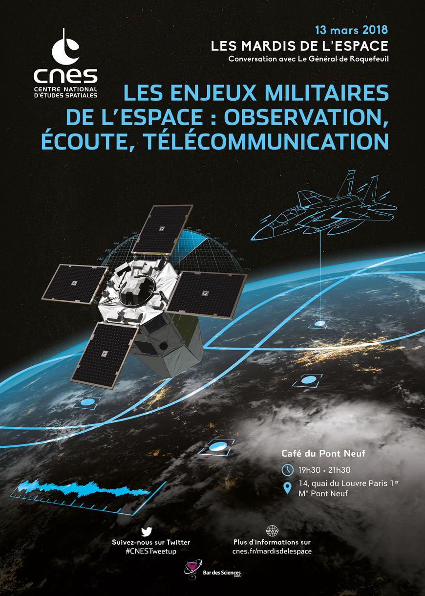 Les enjeux militaires de l'espace le 13 mars à Paris