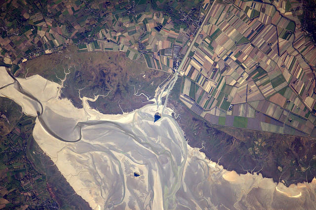 Earth seen from space by Thomas Pesquet: 2) Mont Saint-Michel