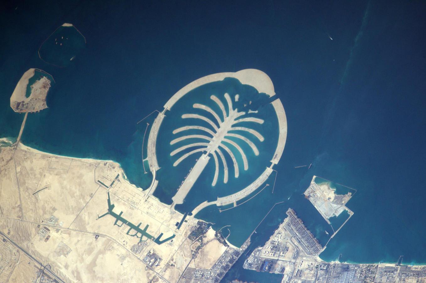 La Terre dans l'oeil de Thomas Pesquet #44 : le palmier Jebel Ali à Dubaï