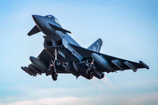 Typhoons fly first operational mission with Meteor missiles