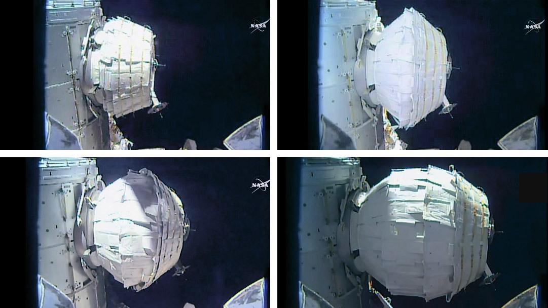 Le module Beam gonflé lors du second essai