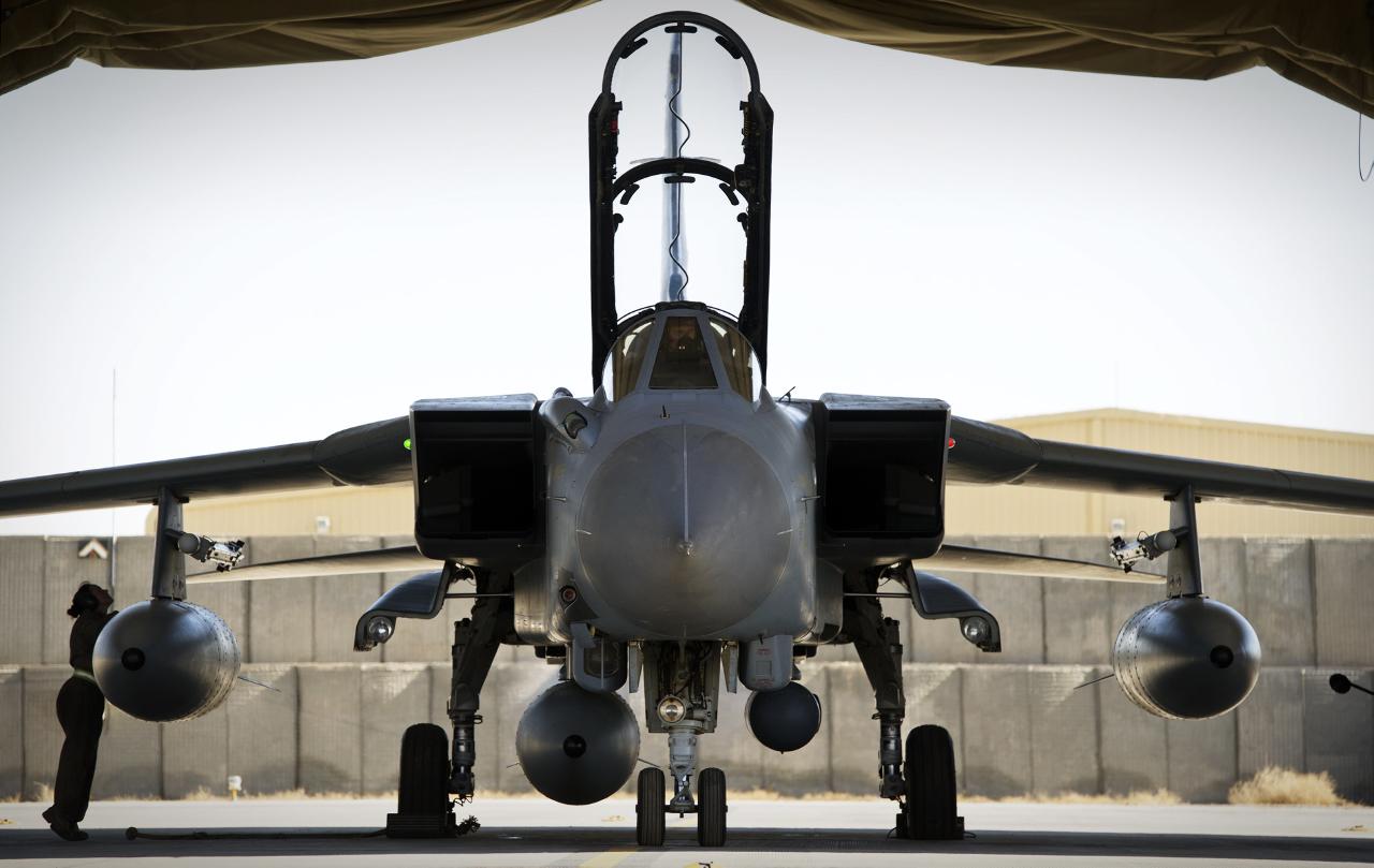 La Royal Air Force teste le système BriteCloud sur Tornado