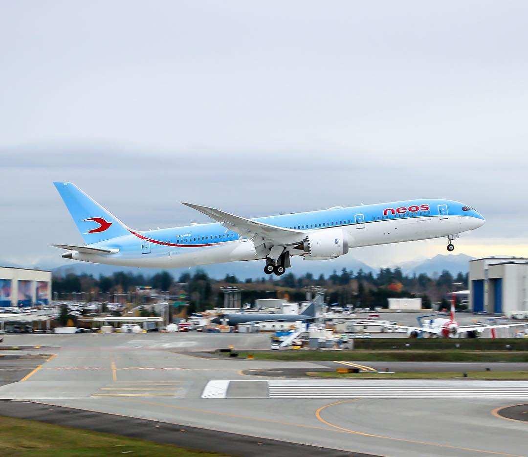 Premier Boeing 787 en Italie