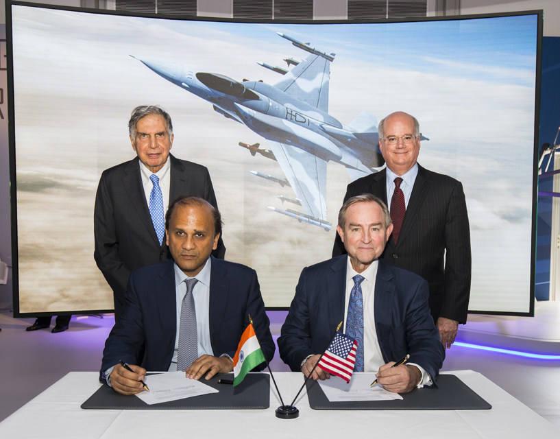 Bourget 2017 : Lockheed Martin et Tata signent un partenariat pour la production de F-16