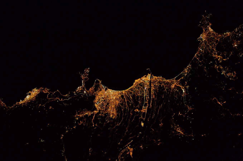 La Terre dans l'oeil de Thomas Pesquet #14 : Nice la nuit