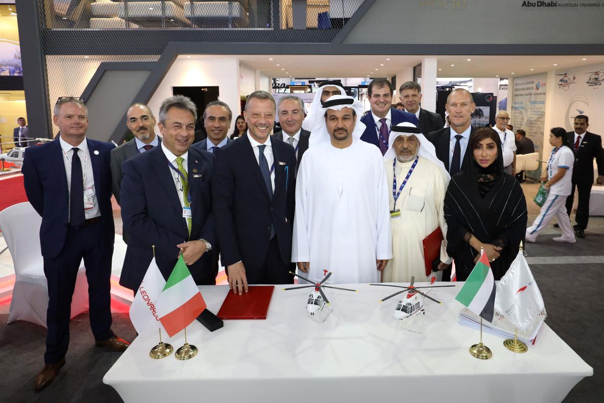 Dubai Airshow 2019 : Leonardo vend cinq hélicoptères de plus à Abu Dhabi Aviation