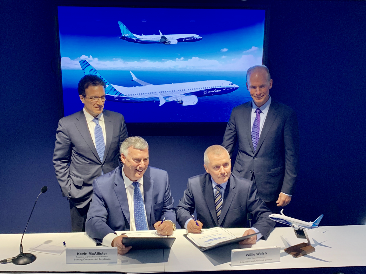 Bourget 2019 : IAG signe pour 200 Boeing 737MAX