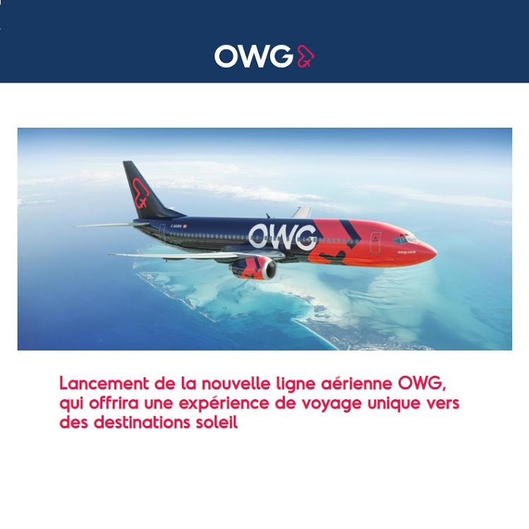 Lancement de la nouvelle ligne aérienne OWG