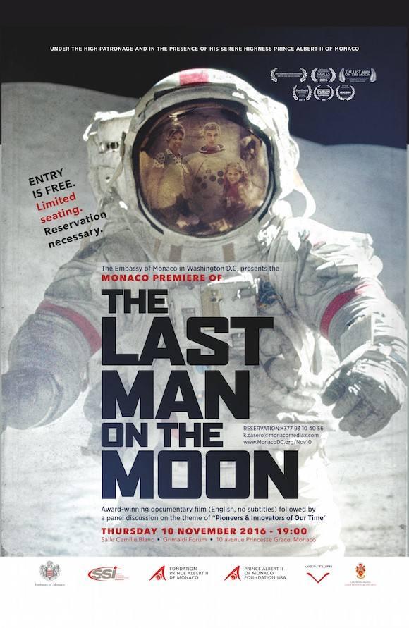 Le dernier homme sur la Lune à Monaco le 10 novembre