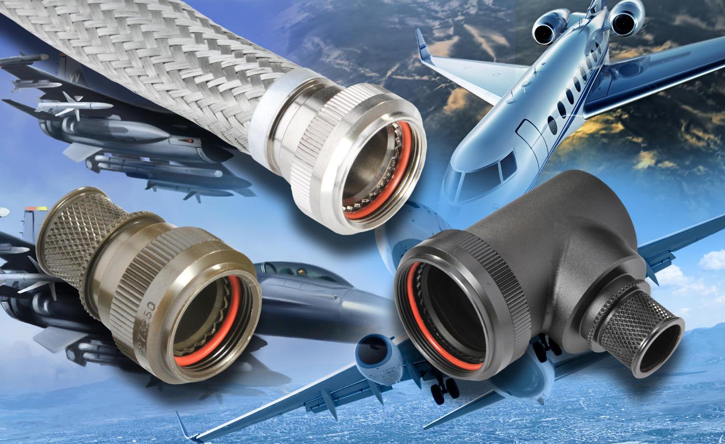 Protection EMC des connecteurs circulaires ou conformes à d'autres normes militaires grâce aux raccords arrière et accessoires Polamco