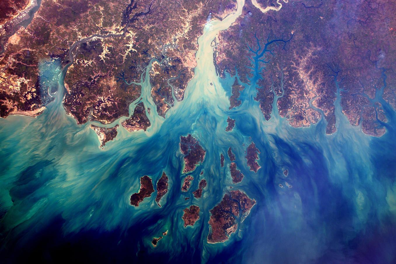 La Terre dans l'oeil de Thomas Pesquet #54 : l'Archipel des Bijagos