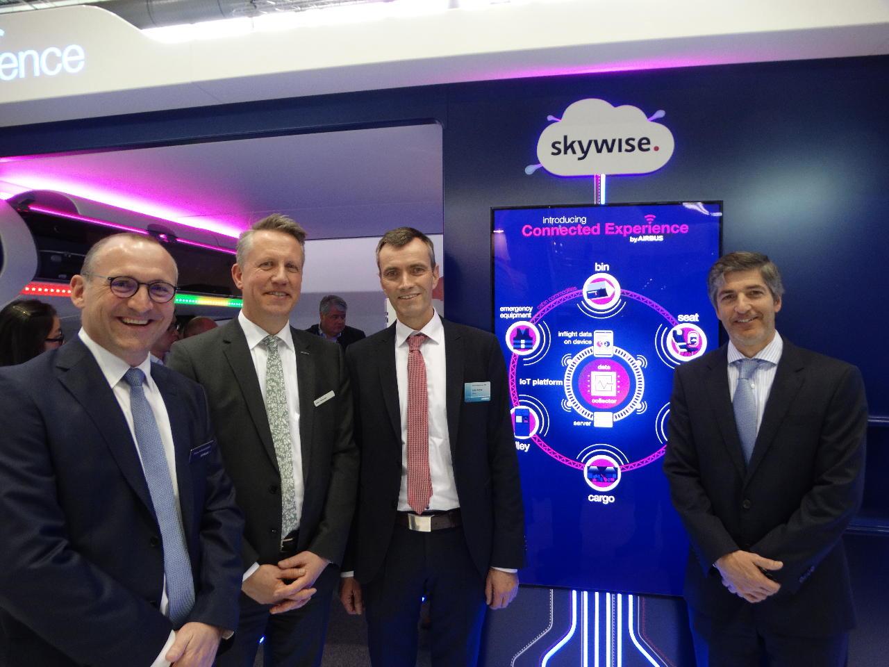 """AIX 2019 : Airbus s'allie avec GateGroup, Recaro et Stelia pour """"la cabine connectée"""""""