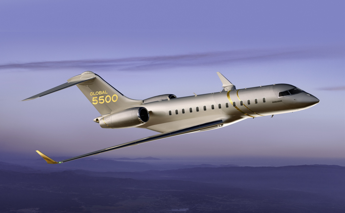 Le Global 5500 en service