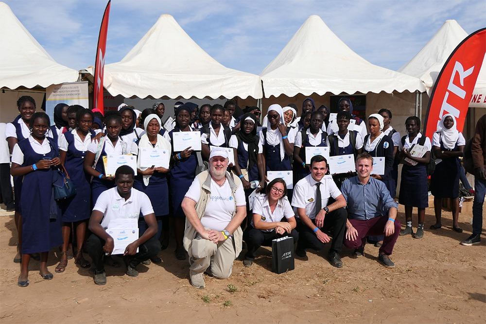Deux élèves pilotes de l'Enac participent au lancement du premier club aéro du Sénégal