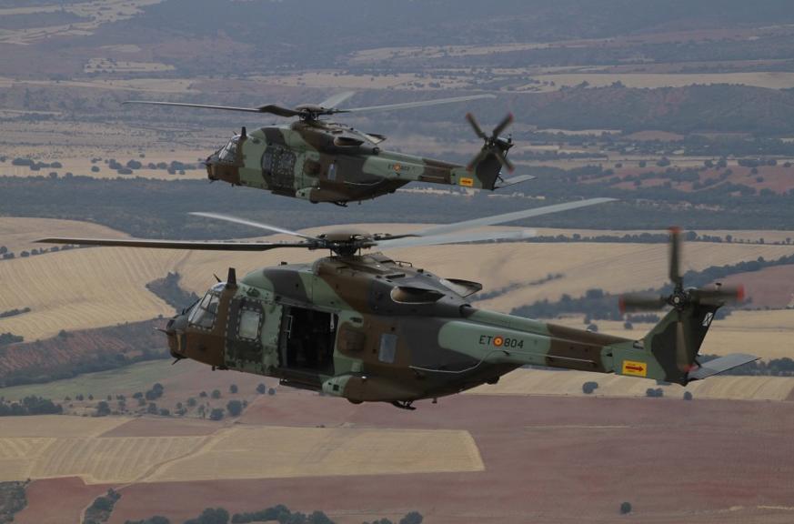 Entrée en service du NH90 en Espagne