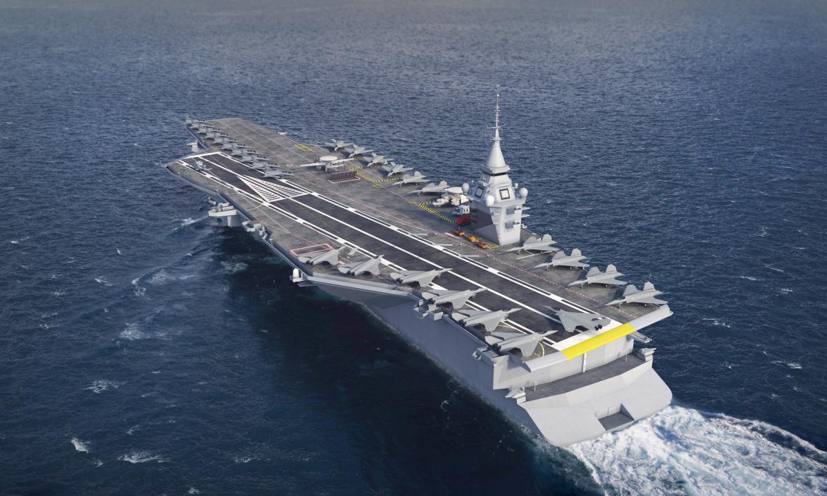 Un porte-avions très américain sur orbite