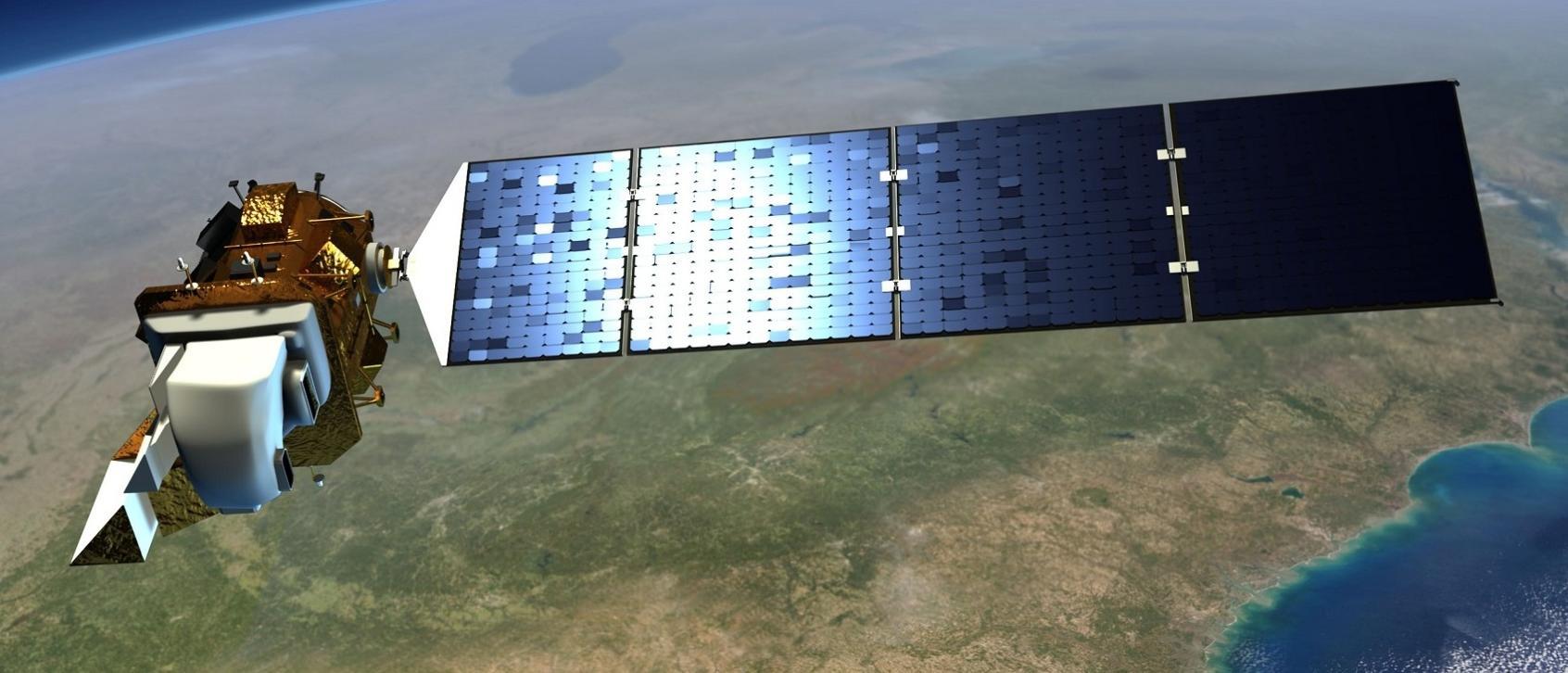 Vue d'artiste de Landsat 9.