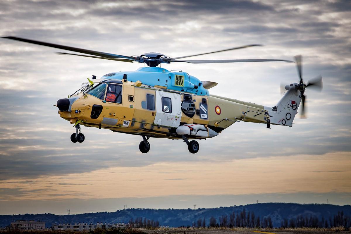 Premiers vols pour les NH90 destinés au Qatar