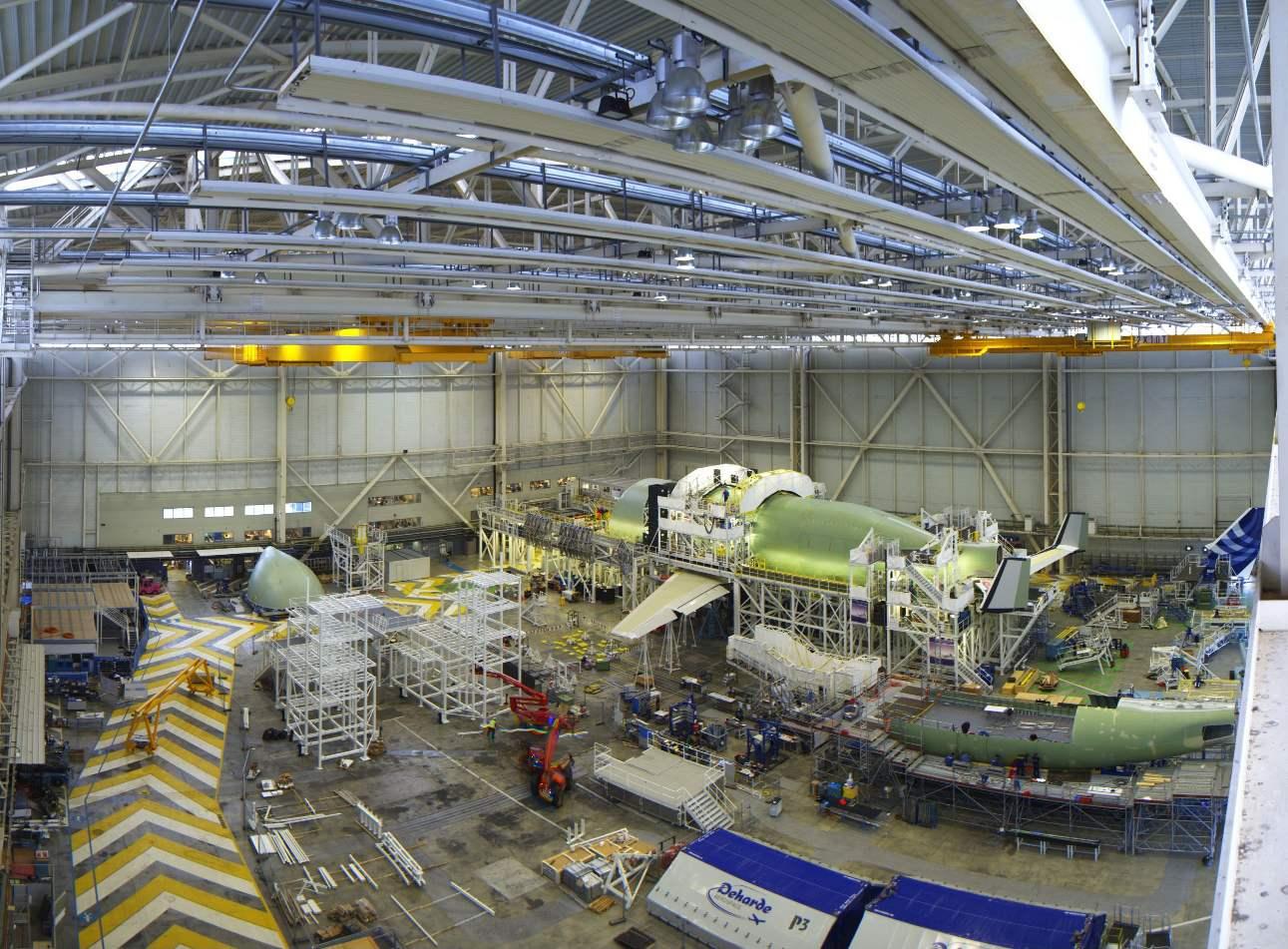 L'Airbus Beluga XL prend forme à Toulouse