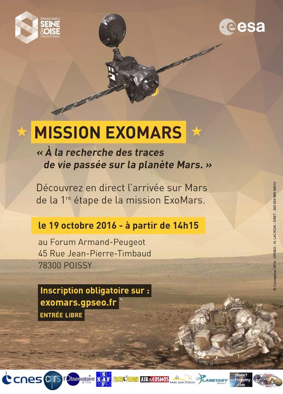 Suivi en direct de l'arrivée d'ExoMars à Poissy le 19 octobre