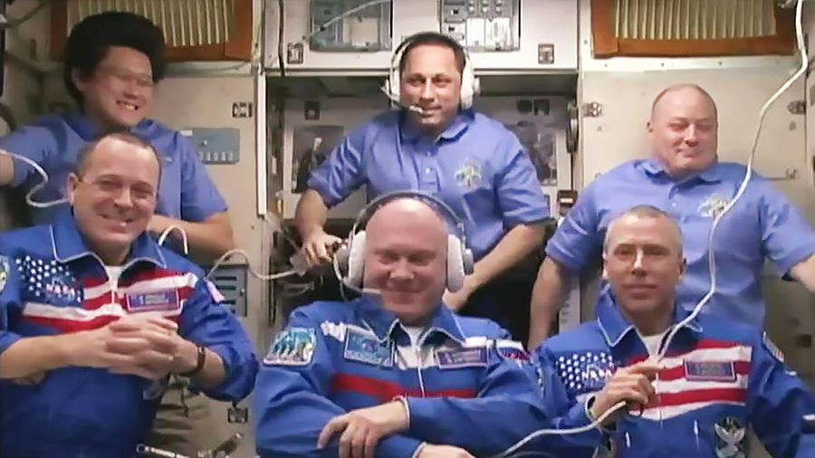 L'Expedition 55 au complet
