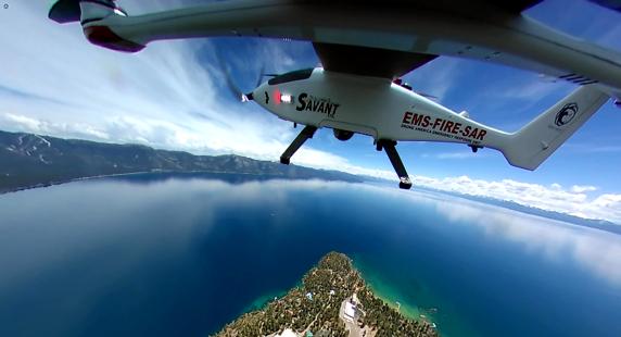 La collaboration drone – hélicoptère