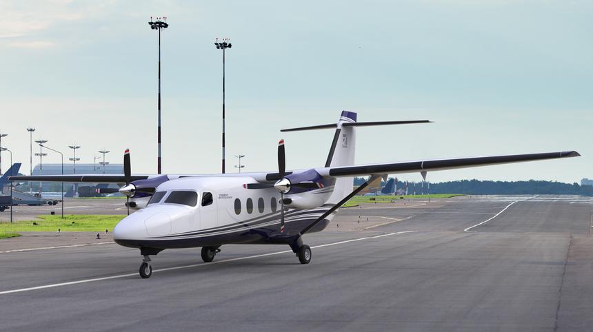 Le prototype du Cessna SkyCourier en cours d'assemblage