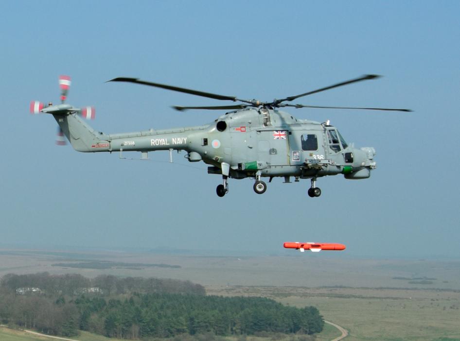 Essai du missile Sea Venom/ANL sur Lynx