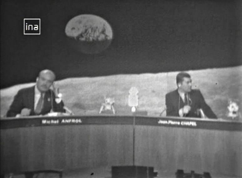 L'écho médiatique d'Apollo 11 en France – 2. A la télévision